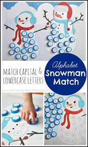 Alphabet Snowman Match Capital and Lowercase Free Printable