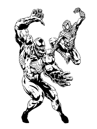 Spiderman And Venom Coloring Pages
