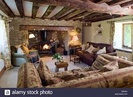 Cottage Livingroom A Cosy Cottage Living Room With A Log Burning Stove Exposed