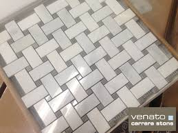 carrara marble basketweave floor tile tile flooring ideas