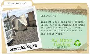 Craigslist Phoenix Storage Sheds by Junk Removal In Mesa Azarizona Metro Hauling