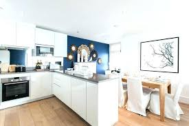 Navy Blue Accent Wall Dining Room Kitchen Contemporary