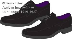 Pair Of Dress Shoes Royalty Free Clip Art Image