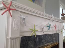 Seashell Christmas Tree Garland by Starfish And Oyster Shell Garland Starfish Decor Starfish