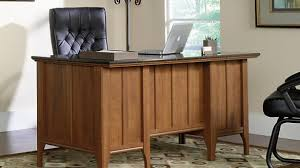 Sauder Office Port Executive Desk Instructions by Sauder 408289 Office Port Dark Alder Executive Desk Regarding