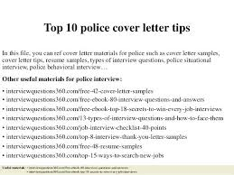 Law Enforcement Resume Cover Letter Examples Samples Police Officer