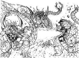 Three Godzilla Coloring Pages