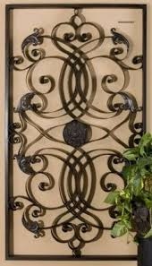 Xl Large Tuscan Scroll Wrought Iron Metal Wall Grille Grill Art Plaque Big