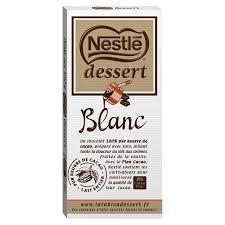 chocolat blanc nestle dessert comparez vos chocolats