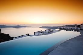 100 The Grace Santorini Swim Laps In S Largest Infinity Pool That Overlooks A Volcano