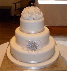 Beautiful White Wedding Cakes With Bling 3