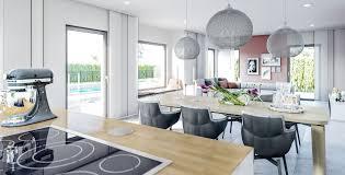 wohnideen offene küche mit esstisch und wohnzimmer haus