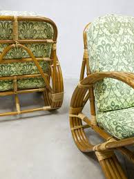 Vintage Rattan Bamboo Lounge Chairs For Sale At Pamono