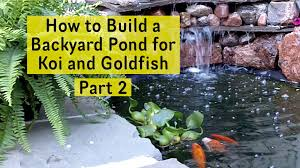 How To Build A Backyard Pond For Koi And Goldfish Part 2 - Pond ... Building Backyard Pond 28 Images Home Decor Diy Project How To Build Fish Pond Waterfall Great Designs Backyard How To A The Digger Opulent 25 Unique Outdoor Ponds Ideas On Pinterest Fish Large Koi Garden Preformed Ponds Building A Billboardvinyls 79 Best And Waterfalls For Goldfish Design Trending Waterfall Diy Ideas Of House 18 Attractive Diy Your Water Nodig Under 70 Hawk Hill