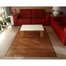 teppich für wohn oder esszimmer streifen farbe holz bambus natur teppiche wohnzimmer großer