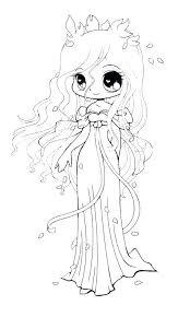 Disney Princess Coloring Pages Rapunzel Page Kids Cute Anime 2358427