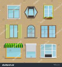 Set Icons Different Types Windows Construction Stock Vector ... Awning Type Windows Window Security Screens Awnings Chrissmith Willmar Vinyl Jeldwen Doors Ac1000 Pan And Door Remove Replace Insect Fly Screen Out Of Wind Awning Windows Bedroom Kitchen Basement Dormer Cleveland Alinum Residential Commercial From Place Philippines Suppliers And Replacement Cauroracom Just All About Outfit Your With Accsories Hgtv