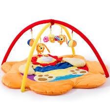 Cartoon Lion 5 Toy Pendant Super Soft Baby Playmat Activity Gym
