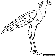 Full Image For Free Coloring Pages Birds Flying Of In Trees Secretary Bird