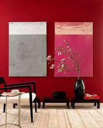rote wand mit rottönen wohnen schöner wohnen farbe