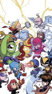 Chibi Marvel iPhone 5 SE Wallpaper