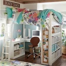 Awesome teen girl bedroom idea Loft bed w desk I SOO Want