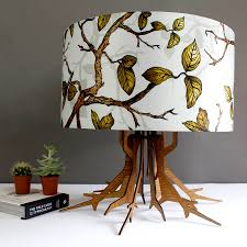 Laser Cut Lamp Shade by Tree Branch Laser Cut Lamp Base With Botanical Shade By Terrarium
