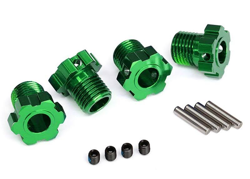 Traxxas Wheel Hubs Splined 17mm Green-Anodized (4) TRA8654G