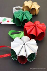 Mid Century Inspired Mini Wreath Christmas Ornaments Toilet Paper Roll CraftsToilet