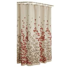 Shop allen roth Rosebury Polyester Print Red Choc Floral Shower