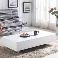 100 Living Room Table Modern GOLDFAN White High Gloss Coffee Design Rectangle Sofa Side End S For Office Furniture White