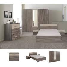 ensemble chambre complete adulte axel ensemble chambre adulte 140x190 cm décor réglisse et mastic