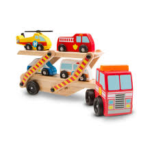 Melissa & Doug Wooden Emergency Vehicle Carrier Truck With 1 Truck ... Melissa Doug Fire Truck Floor Puzzle Chunky 18pcs Disney Baby Mickey Mouse Friends Wooden 100 Pieces Target And Awesome Overland Park Ks Online Kids Consignment Sale Sound You Are My Everything Yame The Play Room Giant Engine Red Door J643 Ebay And Green Toys Peg Squirts Learning Co Truck Puzzles 1