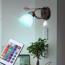 wand strahler fernbedienung alabasterglas wohnzimmer le dimmbar im set inkl rgb led leuchtmittel