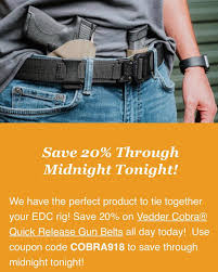 Vedder Holsters Coupon Code Vedder Lighttuck Iwb Holster 49 W Code Or 10 Off All Gear Comfortableholster Hashtag On Instagram Photos And Videos Pic Social Holsters Veddholsters Twitter Clinger Holster No Print Wonderv2 Stingray Coupon Code Crossbreed Holsters Lens Rentals Canada Coupon Gun Archives Tag Inside The Waistband Kydex