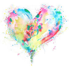 I Love All The Different Colours And Way That They Have Made A Simple Heart Abstract Watercolor ArtWatercolor