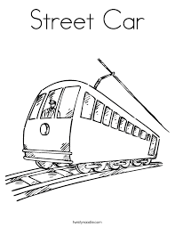 Street Car Coloring Page