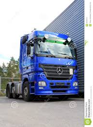 Blue Mercedes-Benz Actros 2546 Truck Editorial Stock Photo - Image ...