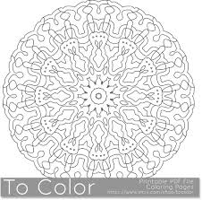 Printable Coloring Pages For Adults Detailed Mandala Pattern PDF JPG Instant Download