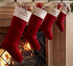 Velvet Stocking - Red With Ivory Cuff | Pottery Barn AU Christmas Stocking Collections Velvet Pottery Barn 126 Best Images On Pinterest Barn Buffalo Stockings Quilted Collection Kids Decorating Appealing For Pretty Phomenal Christmasking Picture Decor Holder Interior Home Ideas 20 Off Free Shipping My Frugal Design Teen