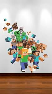 Minecraft Bedroom Accessories Uk by Large Minecraft Wall Sticker Xbox Game Wall Sticker Boys Bedroom