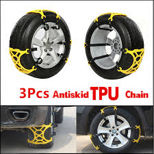 100 Truck Tire Chains 3pcsset Car Snow Ics Wheel Tyre Antiskid Slip