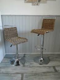barhocker 2 stühle zwei hocker küche esszimmer rattan