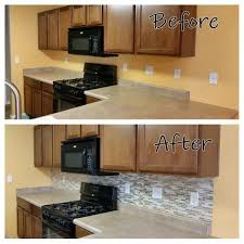 Harmony Mosaik Smart Tiles by New Counter Top And New Peel And Stick Backsplash By Our Friends