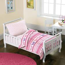 Amazon Butterfly Dots Pink Girls 4 Piece Toddler Bedding Set