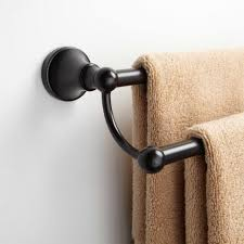 Oil Rubbed Bronze Bathroom Accessories by Bathrooms Design Seattle Double Towel Bar Dark Oil Rubbed Bronze