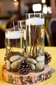 Wedding Centerpieces Diy Without Flowers Best 25 Rustic Candle Ideas On Pinterest For