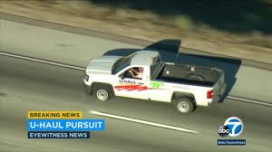 VIDEO: Armed Suspect In U-Haul Pickup Truck Shoots Himself Following ... Van Rental Los Angeles Usd20day Alamo Avis Hertz Budget Luxury Exotic Car Beverly Hills Santa Monica Tastyblock Shave Ice Truck Food Trucks Roaming Hunger Didnt Know Uber And Lyft Allowed Pick Up Trucks Ubdrivers Rentals In Ca Turo Fit Three Passengers A Standard Pickup From Avon Camper 4x4 Gonorth Selfdrive Vintage Classic Rentals Vinty Enterprise Rentacar Delivery Moving Companies Movers Shipping Goshare Armed Suspect Uhaul Pickup Truck Shoots Himself Following Chase