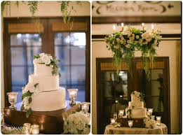 Rustic Garden Chic Wedding Cake Table Floral Chandelier