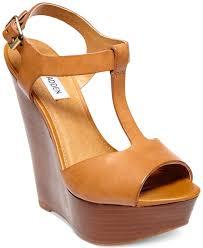 steve madden women u0027s bittles platform wedge sandals in orange lyst